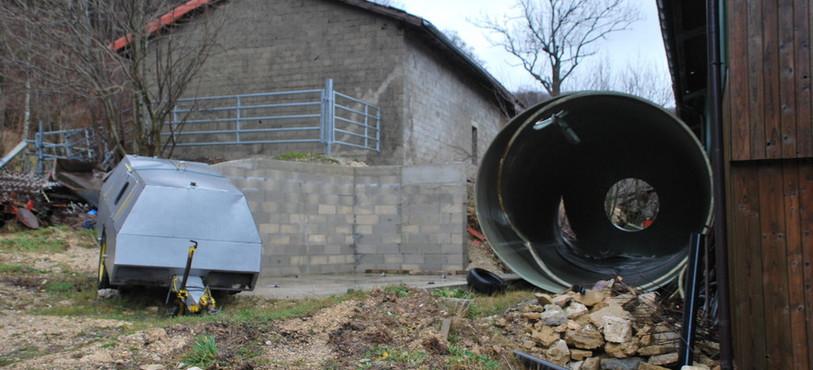 Vue du silo renversé