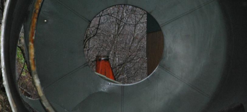 L'intérieur du silo
