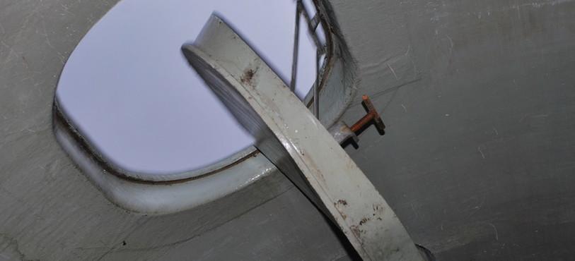 Détail du silo détruit