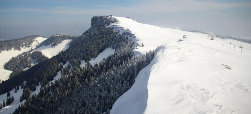 Sainte-Croix / Les Rasses, dans le Nord-vaudois, sous la neige de Noël.
