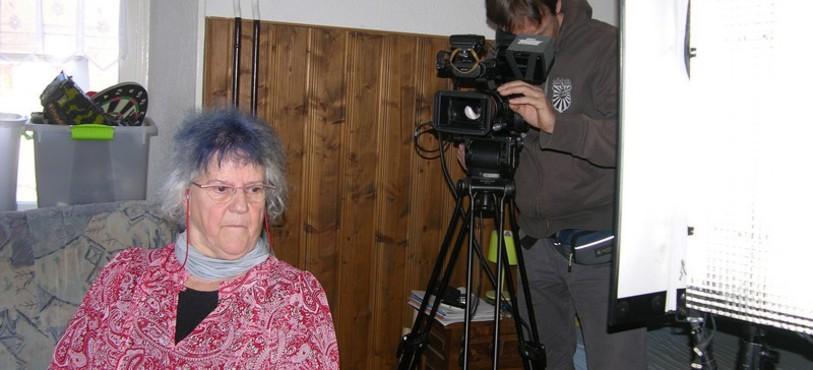 Lucienne Lanaz en tournage