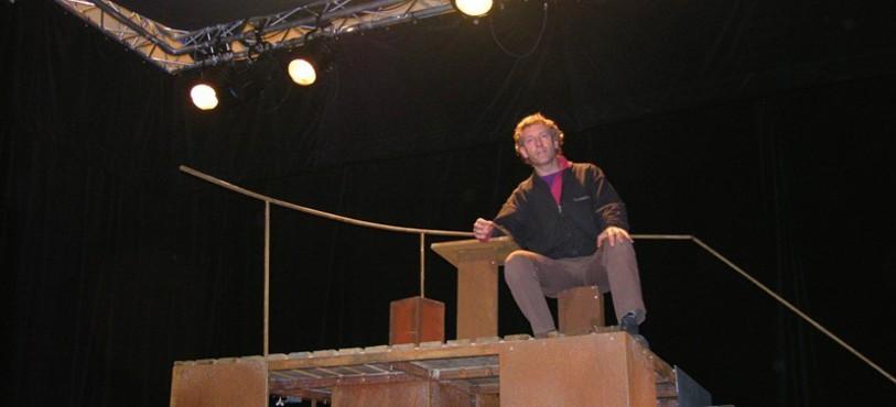 Patrick Mohr en haut du décor