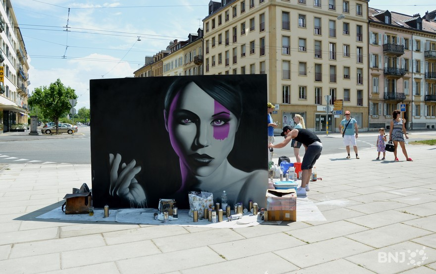 Les graffeurs la rencontre de la population rtn votre for Jardin anglais neuchatel