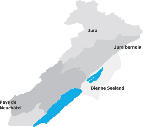 Carte géographique Arc jurassien